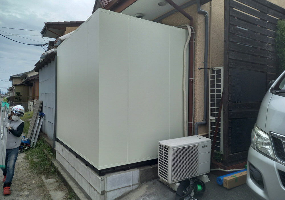 北名古屋市某所 プレハブ冷蔵庫 設置工事